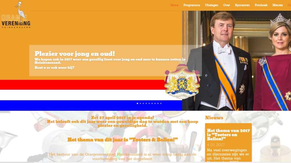 Nieuwe website voor Oranjevereniging Heinkenszand